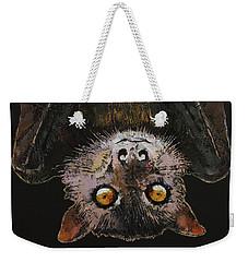 Bat Weekender Tote Bag by Michael Creese