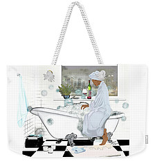 Bath And Wine With Style Weekender Tote Bag