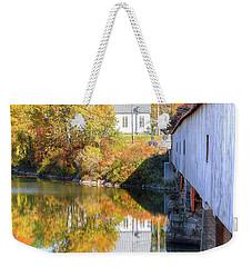 Bath Covered Bridge Weekender Tote Bag