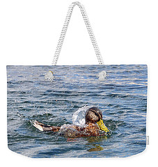 Weekender Tote Bag featuring the photograph Bath Time by Glenn Gordon