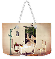 Bath Time Weekender Tote Bag by Methune Hively