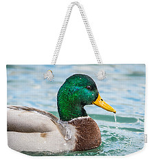 Weekender Tote Bag featuring the photograph Bath Time by Steven Santamour
