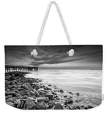 Weekender Tote Bag featuring the photograph Bathe In The Winter Sun by Edward Kreis