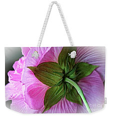 Weekender Tote Bag featuring the photograph Bathed In Pink by Ella Kaye Dickey
