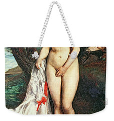 Bather With A Griffon Dog Weekender Tote Bag by Pierrre Auguste Renoir