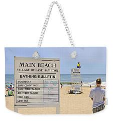 Bathing Bulletin Weekender Tote Bag