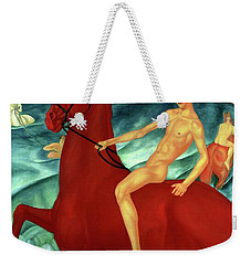 Bathing The Red Horse  Weekender Tote Bag
