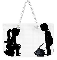 Bathroom Silhouettes Weekender Tote Bag