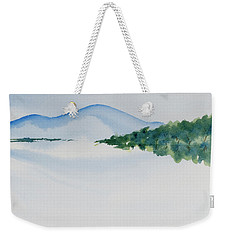 Weekender Tote Bag featuring the painting Bathurst Harbour Reflections by Dorothy Darden