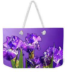 Batik Irises Weekender Tote Bag