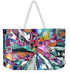 Batik Overlay Weekender Tote Bag