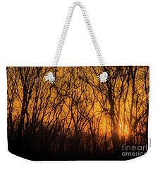 Batik Sunset Weekender Tote Bag by Cheryl McClure