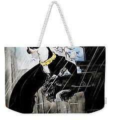 Batman Boston Terrier Caricature Art Print Weekender Tote Bag