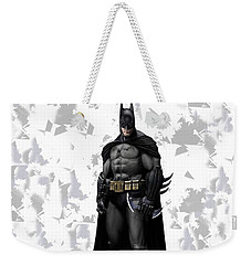 Weekender Tote Bag featuring the mixed media Batman Splash Super Hero Series by Movie Poster Prints