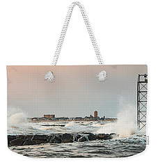Battering The Shark River Inlet Weekender Tote Bag
