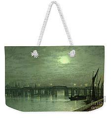 Battersea Bridge By Moonlight Weekender Tote Bag by John Atkinson Grimshaw