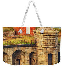 Weekender Tote Bag featuring the photograph Battery Weed At Fort Wadsworth Nyc by Susan Candelario