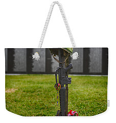 Battle Field Cross At The Traveling Wall Weekender Tote Bag