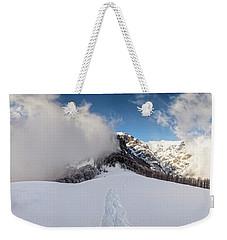 Battle Of Earth And Sky Weekender Tote Bag
