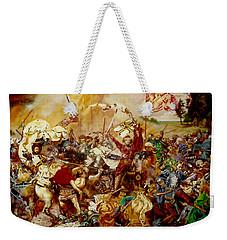 Weekender Tote Bag featuring the painting Battle Of Grunwald by Henryk Gorecki