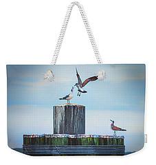 Battle Of The Gulls Weekender Tote Bag