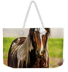 Battle Worn Stallion Weekender Tote Bag by Mary Hone