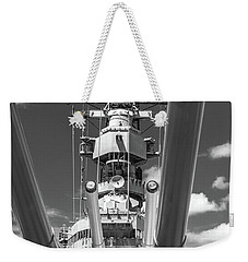 Weekender Tote Bag featuring the photograph Battleship Missouri by Colleen Coccia