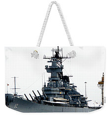 Battleship New Jersey Weekender Tote Bag by Kevin Fortier