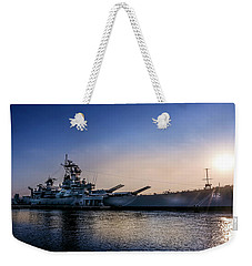 Weekender Tote Bag featuring the photograph Battleship New Jersey by Marvin Spates
