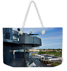 Battleship View Of Wilmington Nc Weekender Tote Bag