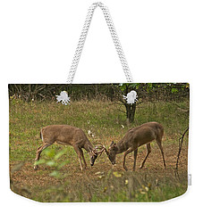 Battling Whitetails 0102 Weekender Tote Bag