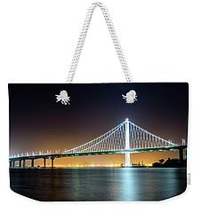 Bay Bridge East By Night 1 Weekender Tote Bag