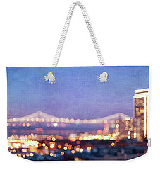 Bay Bridge Glow Weekender Tote Bag by Melanie Alexandra Price