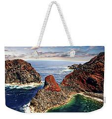 Bay Of Ponta Da Barca Weekender Tote Bag