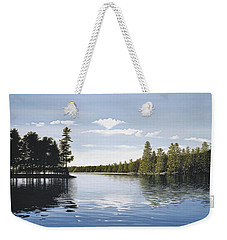 Bay On Lake Muskoka Weekender Tote Bag by Kenneth M  Kirsch