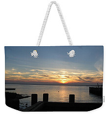 Bay Sunset Weekender Tote Bag by Nance Larson