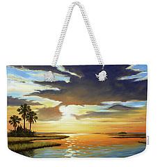 Bay Sunset Weekender Tote Bag