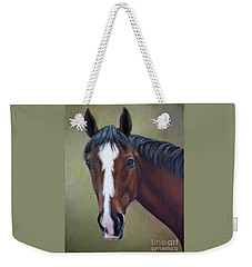 Bay Thoroughbred Horse Portrait Ottb Weekender Tote Bag