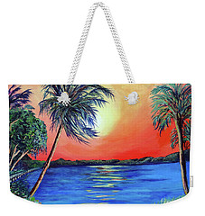 Weekender Tote Bag featuring the painting Baycrest by Ecinja Art Works