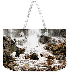 Weekender Tote Bag featuring the photograph Bayfront Park Waterfall by Lars Lentz