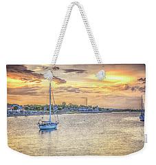 Bayfront Sunset Weekender Tote Bag