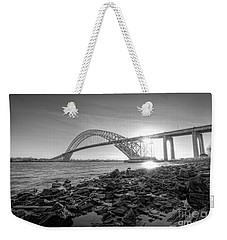 Bayonne Bridge Black And White Weekender Tote Bag