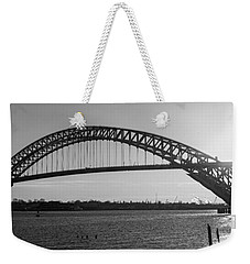 Bayonne Bridge Panorama Bw Weekender Tote Bag