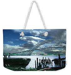 Bayonne Bridge Weekender Tote Bag by Steve Karol