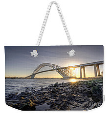Bayonne Bridge Sunset Weekender Tote Bag