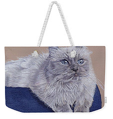 Bayou - Portrait Of A Himalayan Weekender Tote Bag by Patricia Barmatz