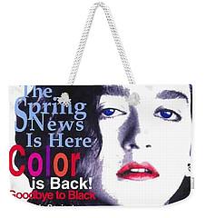 Bazaar Magazine Cover Weekender Tote Bag