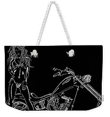Weekender Tote Bag featuring the drawing Bb Four by Mayhem Mediums