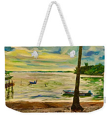 The Living Fisher Village Weekender Tote Bag