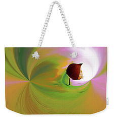Be Happy, Green-pink With Physalis Weekender Tote Bag